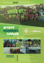 Banner. Cartel inscripciones running popular 2020-2021